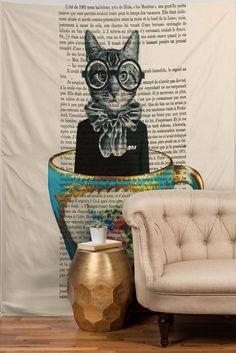 Coco de Paris Cat In A Cup Tapestry | DENY Designs Home Accessories