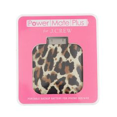 J.Crew Printed Backup iPhone Battery #stockingstuffer