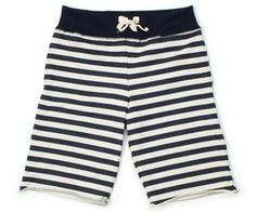 Navy Stripe Terry Shorts by Left Field, $80.