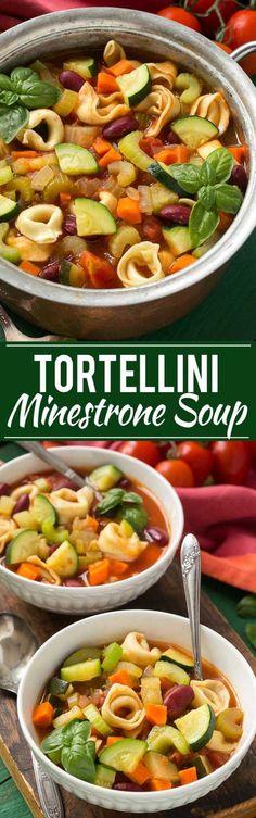 Tortellini Minestrone Soup Recipe   Pasta Minestrone Soup   Italian Pasta Minestrone Soup   Tortellini Minestrone Soup