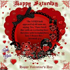 *❤*❤*❤* Happy Hearts Day, Heart Day, Everlasting Love, Blessed, Birthday Cake, Valentines, Valentine's Day Diy, Birthday Cakes, Valentines Day