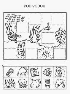 Z internetu - Sisa Stipa - Picasa Web Albums Preschool Worksheets, Preschool Activities, Summer School, Pre School, Ocean Unit, Ocean Crafts, Ocean Themes, Cut And Paste, Busy Book