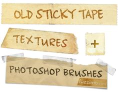 Old Sticky Tape Textures/Photoshop/Brushes
