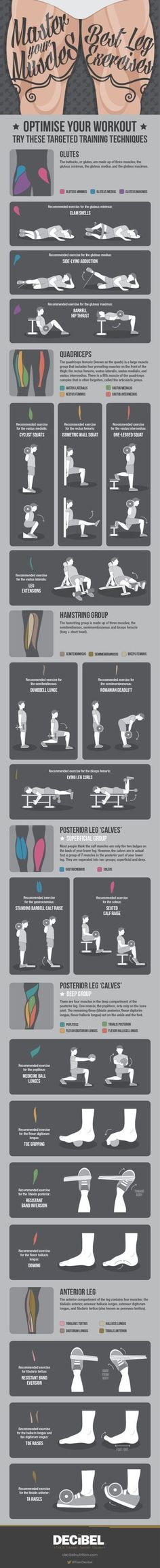 Learn How to Bulk Up Your Chicken Legs with These Exercises #infographic #training #fitness