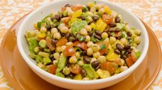 Black Bean, Chickpea and Avocado Salad, diabetic-friendly