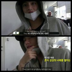 """#BTS #방탄소년단 Bon Voyage Episode 4 ❤ Haha """"They can't do anything without me"""". Of course Tae! Bangtan 7eva."""