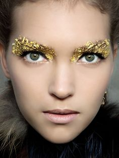 "The Look: ""Hunger Games"" - the Capitol - Fendi Spring/Summer 2012. Makeup by Peter Phillips and hair by Sam McKnight."