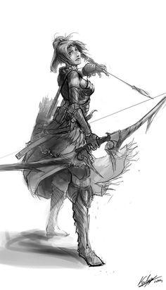 Random elf marksman (wip) by Kailyze
