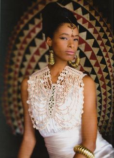 African fashion - inspired by Dinka beaded corset.....a beauty....
