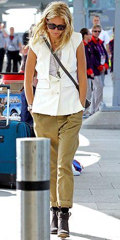 GWYNETH PALTROW cuffed trousers + vest  #fashion #inspiration #style