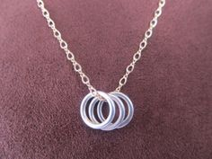 Delicate Eternity Sterling Silver and Gold-Filled Necklace by FayWestDesigns, $32.00