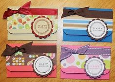 DIY Cards DIY Paper Craft: DIY  Gift Card Holders Tutorial