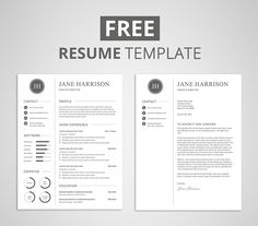 Free modern resume template that comes with matching cover letter template. If you like this cv template. Check others on my CV template board :) Thanks for sharing! Resume Cover Letter Template, Modern Resume Template, Resume Template Free, Creative Resume Templates, Templates Free, Free Cover Letter Templates, Blogger Templates, Resume Cover Letters, Resume Pdf