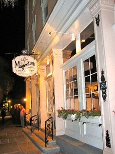 Magnolia's, Charleston, SC - best shrimp and grits, but even better their BLT with fried green tomatoes and crab