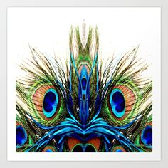 Collect your choice of gallery quality Giclée, or fine art prints custom trimmed by hand in a variety of sizes with a white border for framing. Peacock Shower Curtain, Summer Of Love, Summer Fun, Peacock Art, Face Design, New Age, Store Design, Wall Tapestry, Printmaking
