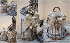 Vianočná sada dekorácií - papierové pletenie / Artmama.sk Wicker Baskets, Weaving, Paper Crafts, Tutorials, Table Decorations, Christmas, Handmade, Retro, Home Decor
