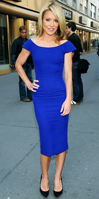 Kelly Ripa in cobalt blue