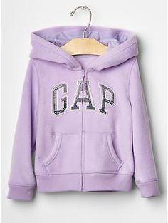 Pro Fleece logo zip hoodie   Gap