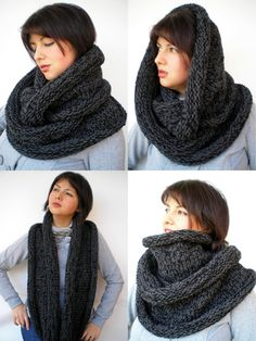 Hand Knitting, Knitting Patterns, Circle Scarf, Knitted Gloves, Knit Or Crochet, Womens Scarves, Luxembourg, My Style, Trending Outfits