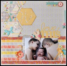 Be(you)tiful Layout by Authentique Fan Cathy Harper