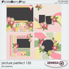 Picture Perfect 135 - Template Pack is created by Aprilisa Designs