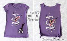 Creating Laura: DIY Side-Tie T-Shirt Remix