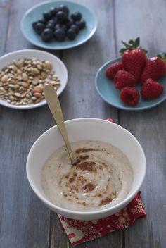 Muesli, Cinnamon, Oatmeal, Pudding, Breakfast Ideas, Food, Dukan Diet, Morning Breakfast, Canela