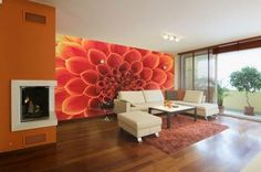 So realistic, you can nearly smell the flowers! Bringing the outdoors in with this nature inspired wall mural.
