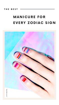 Minimalist manicure ideas for your zodiac sign