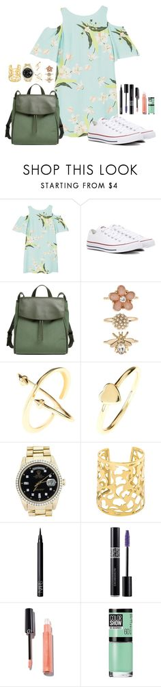 """Unbenannt #119"" by himari18 ❤ liked on Polyvore featuring MANGO, Converse, Skagen, Accessorize, Latelita, Rolex, NARS Cosmetics, Christian Dior and Maybelline"