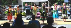 The Heart of Aloha Dancers and Students sharing the Aloha Spirit and Hula at the Lake Lure NC Arts and Crafts Festival May 2015