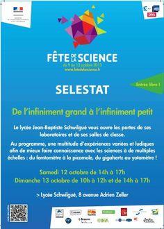 Fête de la science. Du 12 au 13 octobre 2013 à Sélestat.