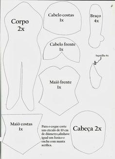 arte em feltro: Molde bailarina de feltro 002