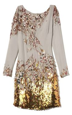 Matthew Williamson Embroidered Long Sleeve Dress