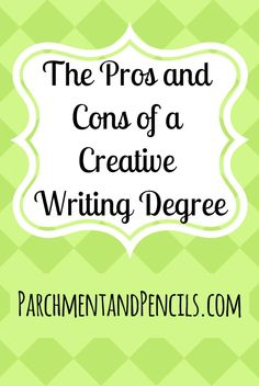 Are you considering a degree in creative writing? There are many pros and cons to the course, check them out in my blog post!  Written: July 22nd 2017