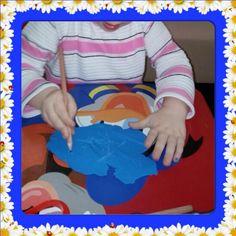 HAMURDAN TABLET Yazı yazmanın temenli olan ince-motor becerileri arttırmak için okul öncesi dönem için eğlenceli bir etkinlik.