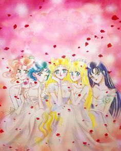 Sailor Moon & the Inner Sailor Scouts Sailor Moon Crystal, Sailor Moon Stars, Sailor Moon Fan Art, Sailor Moon Manga, Sailor Pluto, Sailor Jupiter, Sailor Venus, Sailor Mars, Sailor Moon Background