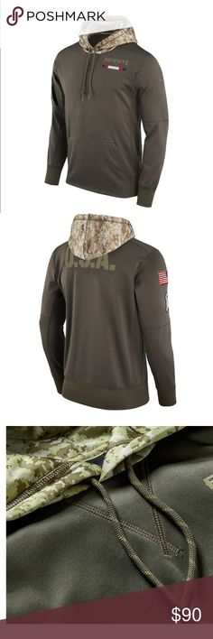 Patriots Salute to Service 2017 Therma-FIT Hoodie Nike Men's New England Patriots Salute to Service 2017 Therma-FIT Performance Hoodie(Olive Green.) New with tags. Just too large for my son who got it for Christmas. Never Worn 🌟 Nike Jackets & Coats