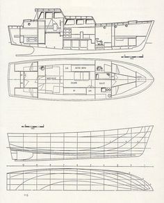 Boat technical drawing boat building by VintageAndNostalgia, $14.95