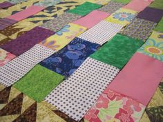 Scrappy Bricks Quilt, a Free Linus Connection quilt pattern.