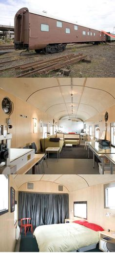 Train Car Home in Portland   ::   created from a 1949 Portland sleeper car (807 square feet and 10 foot ceilings)