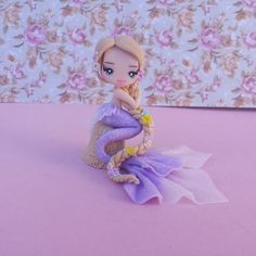 statuette Rapunzel polymer clay, fimo