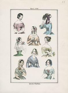World of Fashion April 1845 LAPL