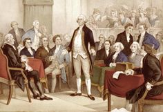 The First Continental Congress was a convention of delegates from twelve colonies (not including Georgia) that met on September 5, 1774, at Carpenters' Hall in Philadelphia, Pennsylvania, early in the American Revolution. It was called in response to the passage of the Coercive Acts (also known as Intolerable Acts by the Colonial Americans) by the British Parliament. Included include Patrick Henry, George Washington, and Samuel Adams