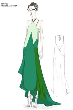 Miu Miu The Great Gatsby Sketch