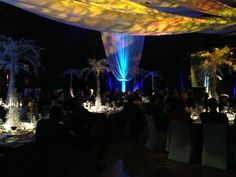 Recent event done by DDZ - lights enhance the decor so much