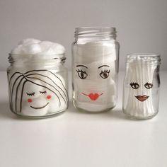 Cute glazen potjes