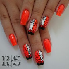 As 20 melhores unhas decoradas com esmalte laranja