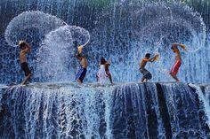 Global Gallery 'Playing with Splash' by Angela Muliani Hartojo Framed Photographic Print Size: Wall Art Prints, Poster Prints, Posters, Fine Art Photography, Fine Art America, Giclee Print, Canvas Art, Canvas Size, Most Beautiful