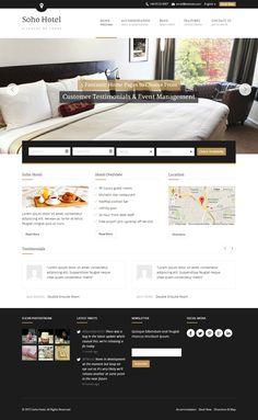 Soho Hotel - Responsive Hotel Booking WP Theme #hotel #web #reservation